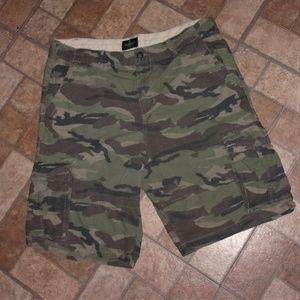 American Eagle Camo Ripstock Cargo Shorts